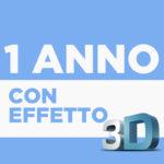 1° Anno con Effetto 3D