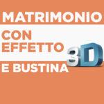 Matrimonio Portasoldi con Bustina ed Effetto 3D