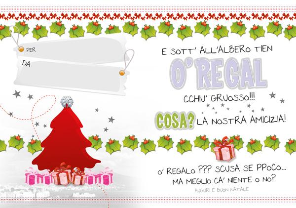 Buon Natale Napoletano.Natale Grandezza Normale 16 5 23 5 In Dialetto Napoletano Gruppo D